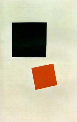 K. Malevich: Red Square and Black Square